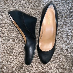 Black Nine West wedges sz6